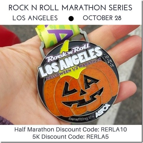 Rock and roll Los Angeles discount code half marathon 5K