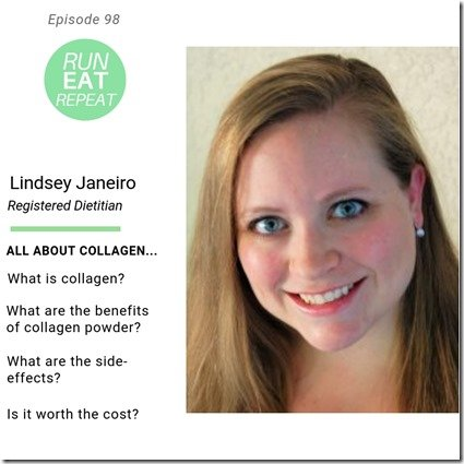Collagen Health and Nutrition Tips Run Eat Repeat podcast ep (800x800)