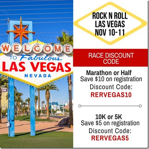 Rock and Roll Las Vegas Marathon Half Marathon Discount Code