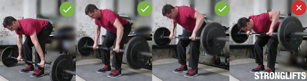 Barbell Row Cheating