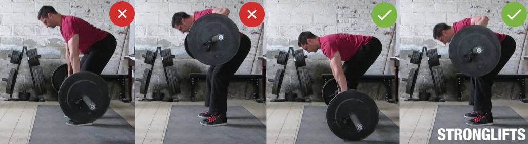Barbell Row Between Reps