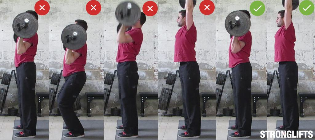 Overhead Press Cheating