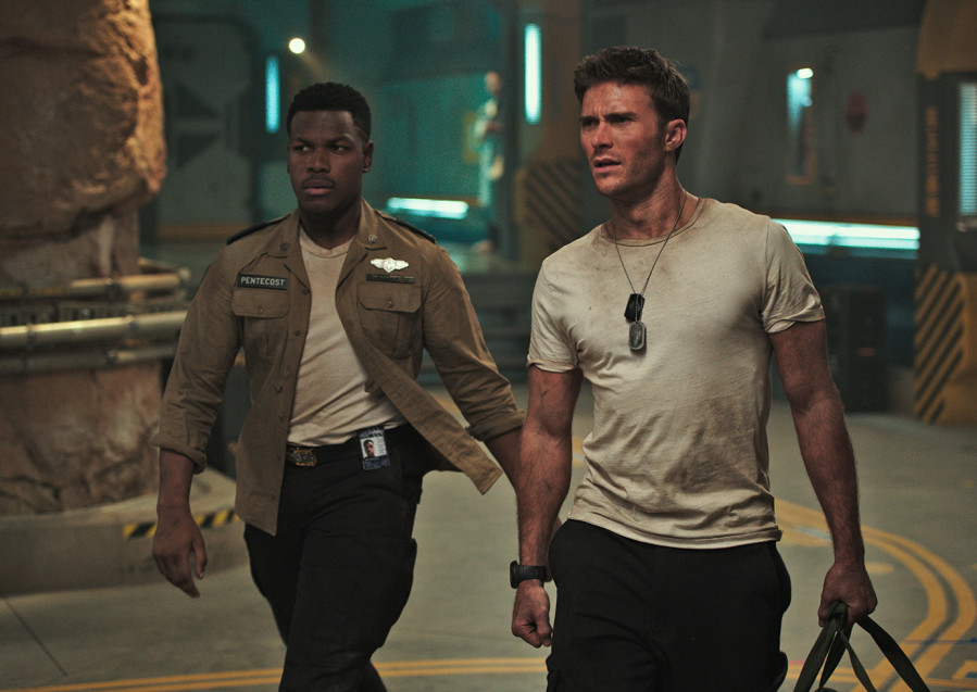 "John Boega and Scott Eastwood in ""The Rise of the Pacific Rising""."