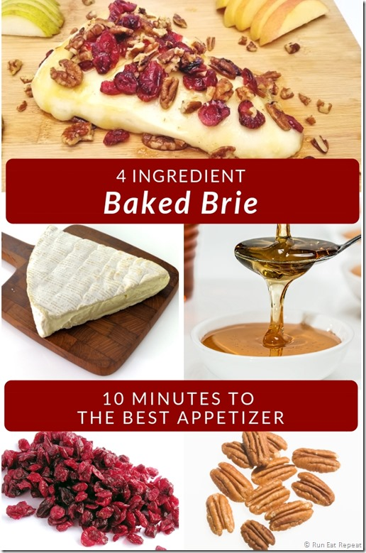 Easy 4 ingredient baked brie recipe