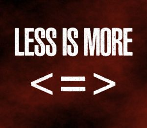 Less is more for athletes.
