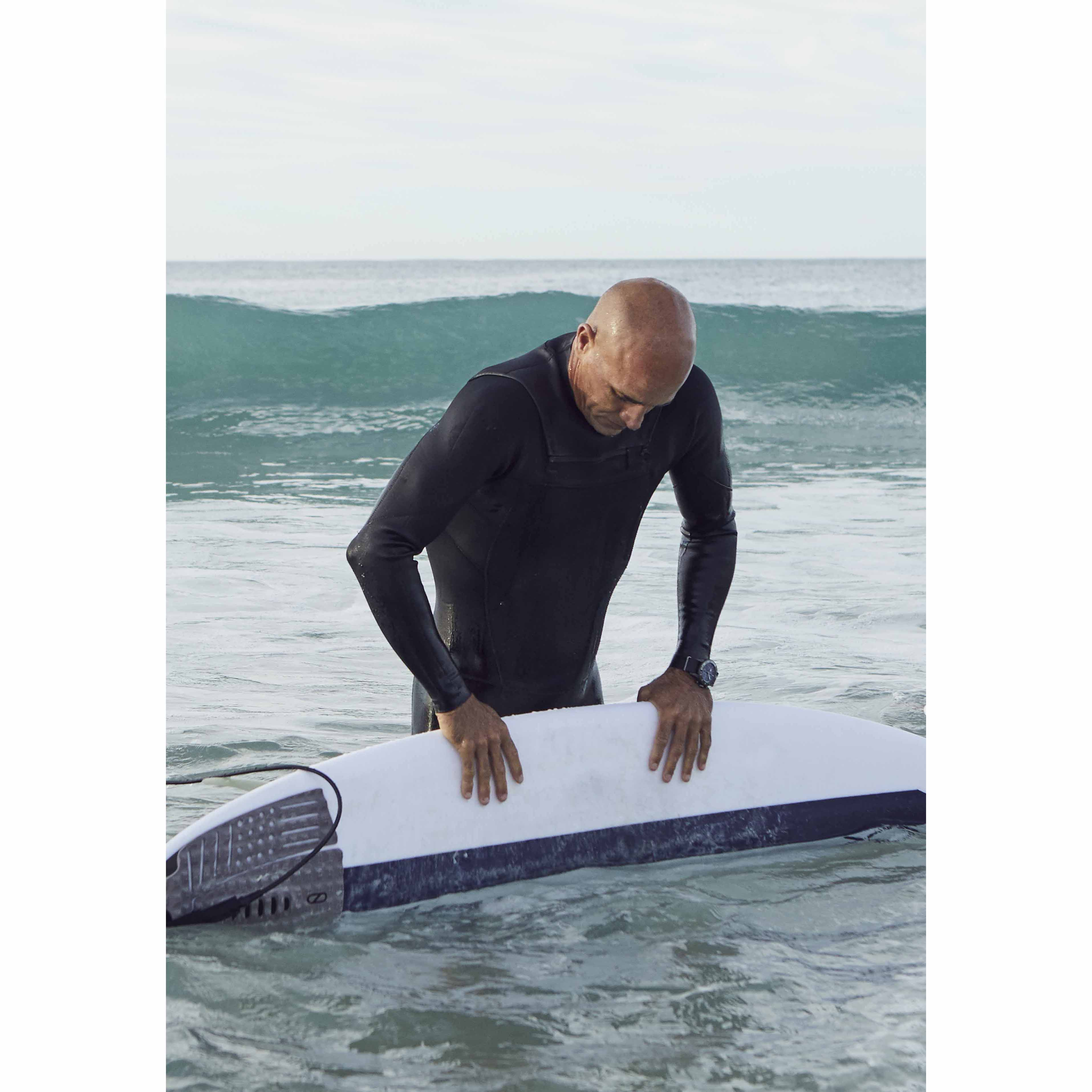 Breitling Surfers team member Kelly Slater in the Superocean Heritage II 44 Outerknown chronograph