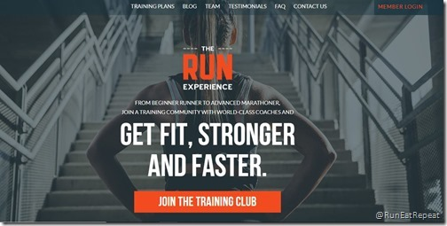 running experience how to train website