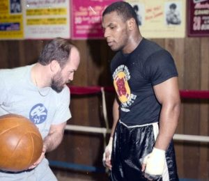Old school coaching with Mike Tyson