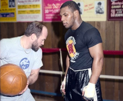 Mike Tyson is training with Kevin Rooney.