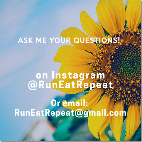 Run Eat Repeat Questions March Instagram Blog