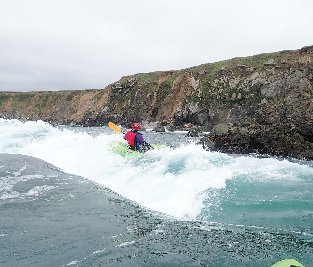 Ocean of white water kayaking.